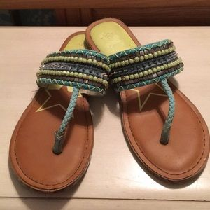 Sam Edelman Circus Blue/Green Studded Sandals
